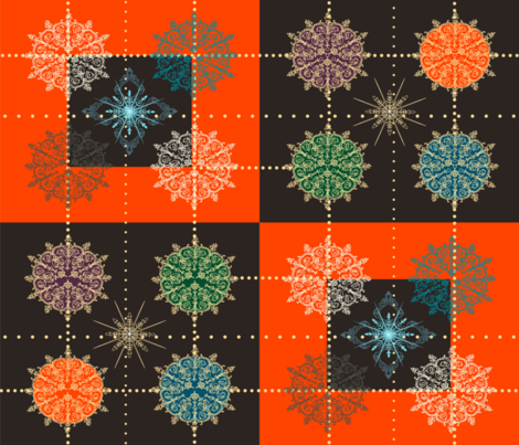 Snowflake ornament;) fabric by jane_leforte on Spoonflower - custom fabric