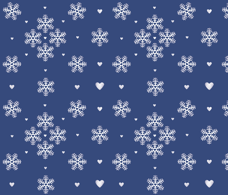 lovely winter fabric by renarde on Spoonflower - custom fabric