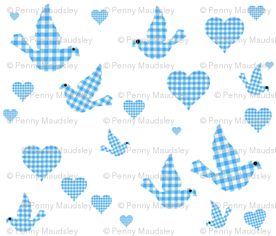 GINGHAM BLUEBIRDS