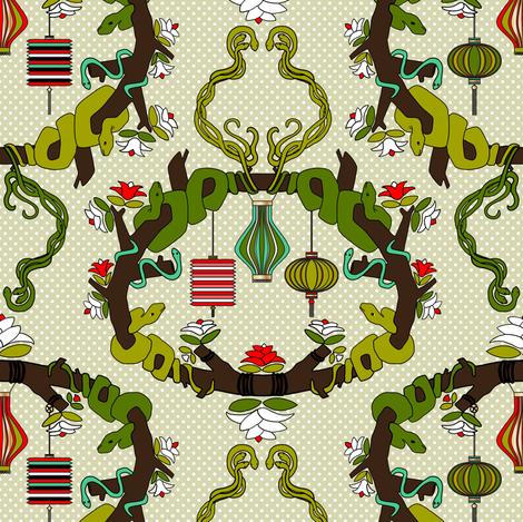 Chinese Lanterns fabric by mag-o on Spoonflower - custom fabric