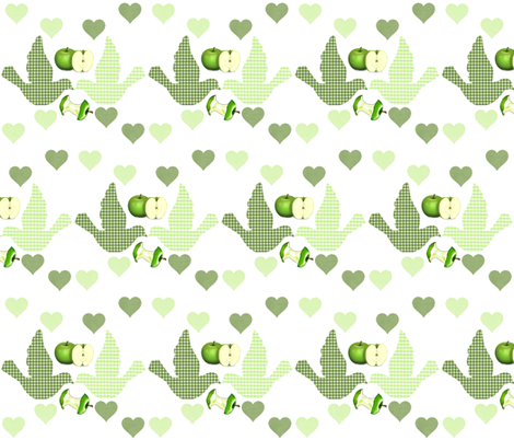 YOUR THE APPLE OF MY EYE fabric by bluevelvet on Spoonflower - custom fabric