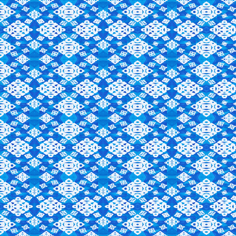 Snowflakes in the Blue fabric by empireruhl on Spoonflower - custom fabric