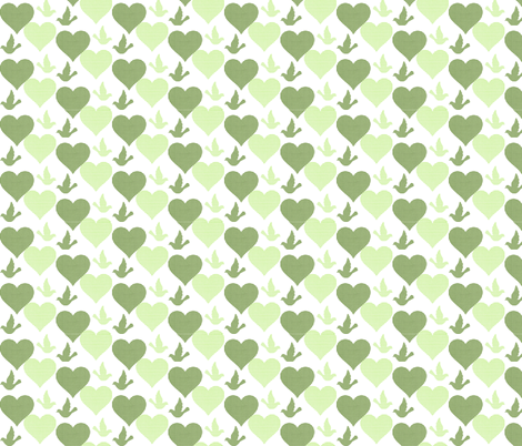 GINGHAM LOVE BIRDS fabric by bluevelvet on Spoonflower - custom fabric