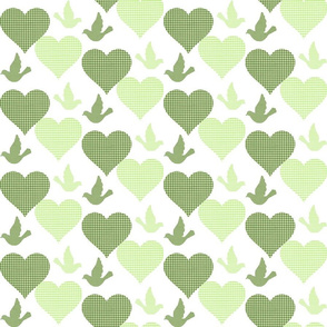 GINGHAM LOVE BIRDS