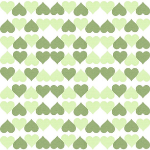 GREEN GINGHAM HEARTS