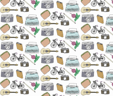 Favorite Things fabric by odeda on Spoonflower - custom fabric