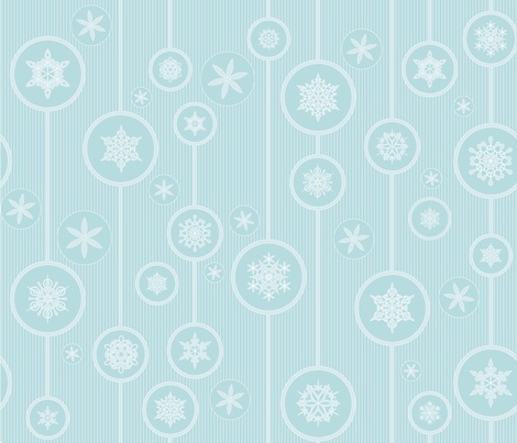 Julie's SnowFlakes fabric by juliesfabrics on Spoonflower - custom fabric