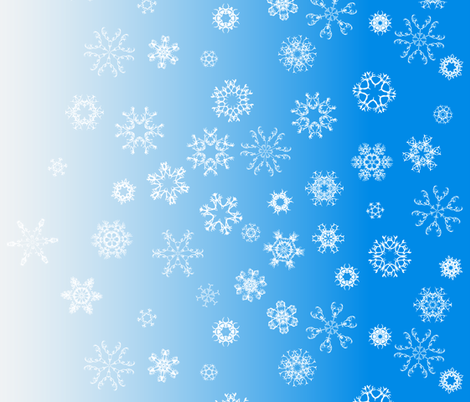 antler snowflakes_sky blue fabric by owls on Spoonflower - custom fabric
