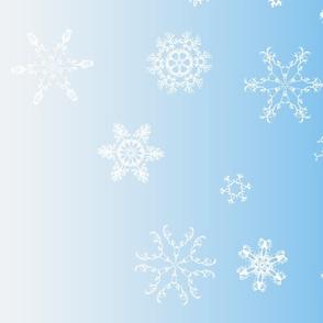 antler snowflakes_sky blue