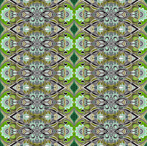 Heirloom Jewelry (Delicate Green Tarnished Vertical Stripe) fabric by edsel2084 on Spoonflower - custom fabric