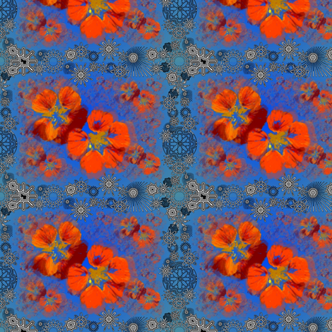 nasturttiums fabric by y-knot_designs on Spoonflower - custom fabric