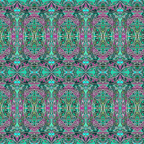 Help, I've Been Framed (ornate teal and raspberry ovals) fabric by edsel2084 on Spoonflower - custom fabric