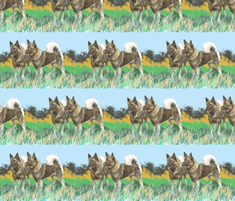 Norwegian Elkhounds 3 fabric fabric by dogdaze_ on Spoonflower - custom fabric