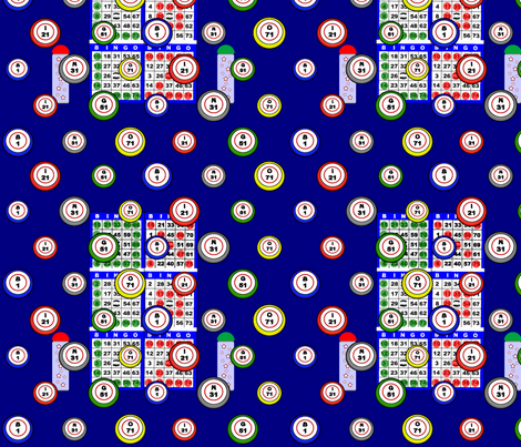 Bingo 6on fabric by dd_baz on Spoonflower - custom fabric