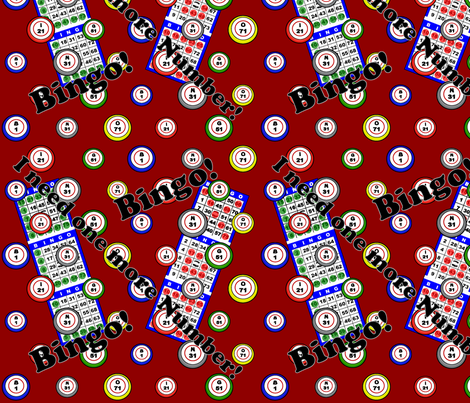 I need one more Number Red fabric by dd_baz on Spoonflower - custom fabric