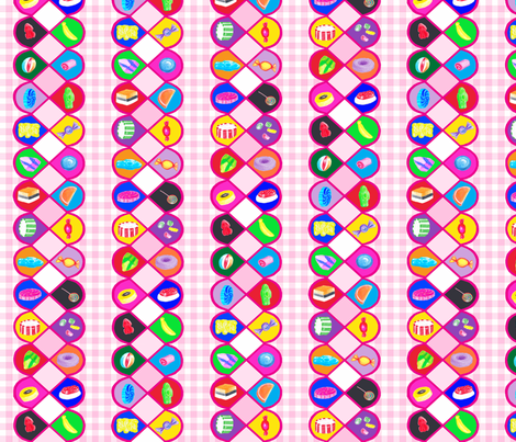 lollies_gingham fabric by flying_pigs on Spoonflower - custom fabric