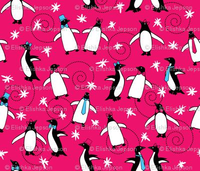 Penguins Puttin' on the Ritz (Magenta)
