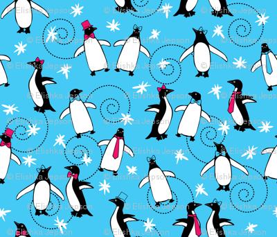 Penguins Puttin' On the Ritz (Turquoise)