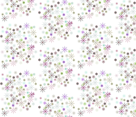 Festive Flakes fabric by yewtree on Spoonflower - custom fabric