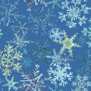snowflakes - blue colorway