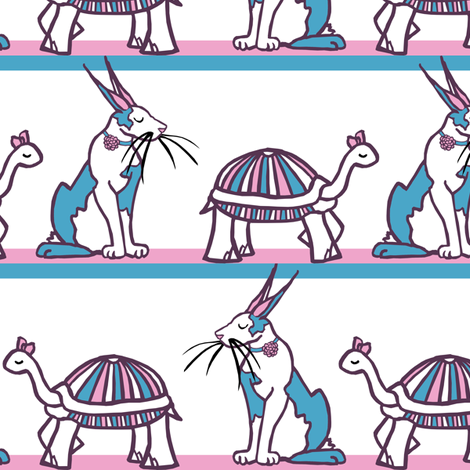the Tortoise & the Hare Stripe fabric by pond_ripple on Spoonflower - custom fabric