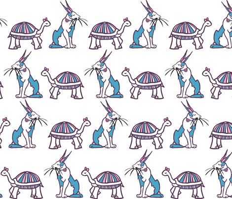 the Tortoise & the Hare fabric by pond_ripple on Spoonflower - custom fabric