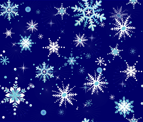 snowflakes fabric by riztyd on Spoonflower - custom fabric