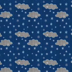 Snowflakes evening sky