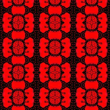 flowers and red dots fabric by dk_designs on Spoonflower - custom fabric