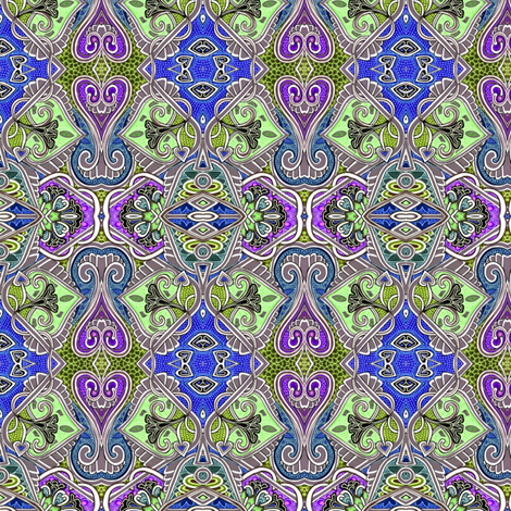 Romance in Blue, Grey, and Mint (with a little violet) fabric by edsel2084 on Spoonflower - custom fabric