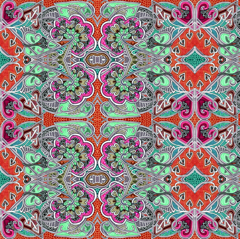 Fill Your Belly at the New Dehli Deli fabric by edsel2084 on Spoonflower - custom fabric