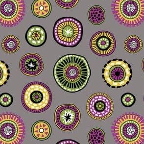 Tribal Aura-Buttons-Grey