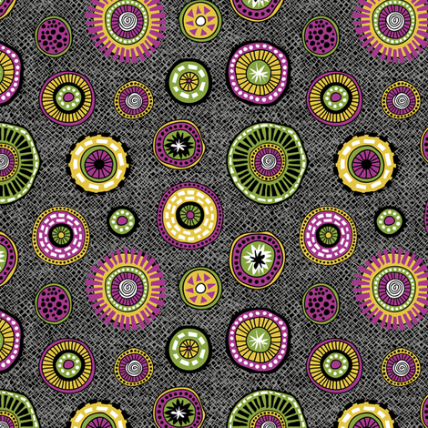 Tribal Aura-Buttons-Texture fabric by groovity on Spoonflower - custom fabric