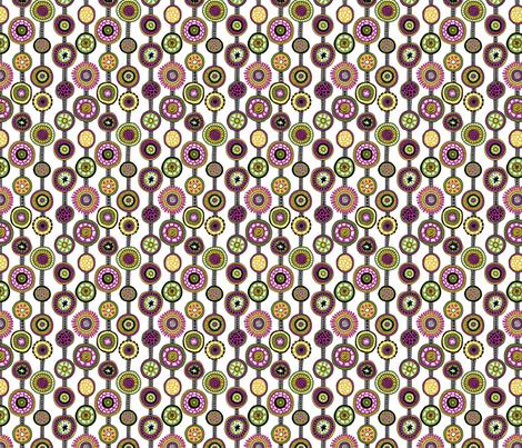 Tribal Aura-Strands-White fabric by groovity on Spoonflower - custom fabric