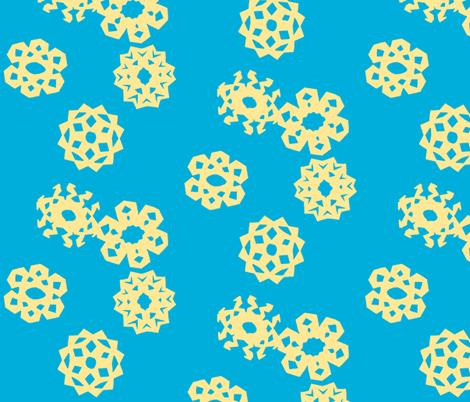 Yellow Snow fabric by iliketodraw on Spoonflower - custom fabric