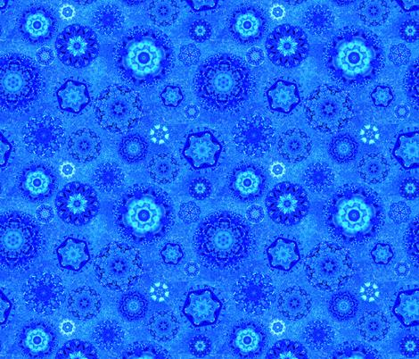 Moody Blue Snow fabric by elarnia on Spoonflower - custom fabric