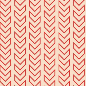 Chevron Tracks_Coral Colorway