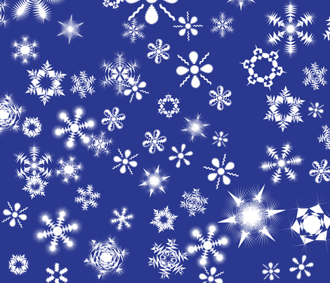 snowflakes4 fabric by wordfabric on Spoonflower - custom fabric