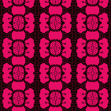 flowers and dots 2 fabric by dk_designs on Spoonflower - custom fabric
