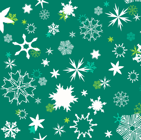 Sprouting Snowflakes fabric by sheila_marie_delgado on Spoonflower - custom fabric