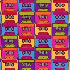 CurlyPops - Technicolour Cassettes grey base