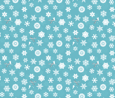 Paper Snowflakes fabric by jenimp on Spoonflower - custom fabric