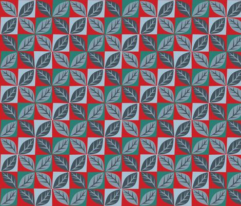 Leafland diamonds fabric by bippidiiboppidii on Spoonflower - custom fabric