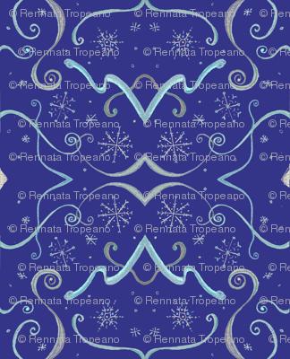 Art_Deco_blue_snowflake