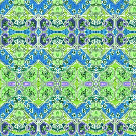 I Heart Green fabric by edsel2084 on Spoonflower - custom fabric