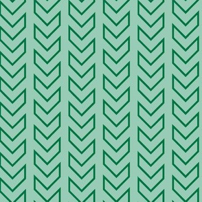 Chevron Tracks_Emerald Colorway