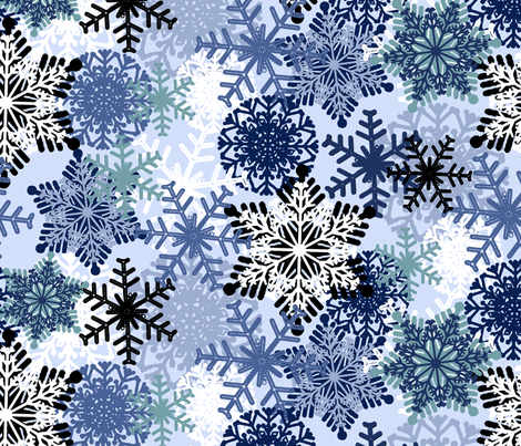 Snowflake fabric by susanna_nousiainen on Spoonflower - custom fabric