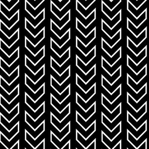 Chevron Tracks_Black & White Colorway