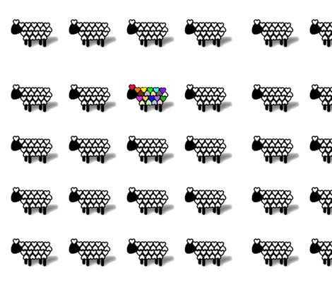 luvineweflock fabric by luvinewe on Spoonflower - custom fabric