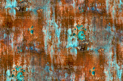 Teal and Orange Rust | Rustic Background